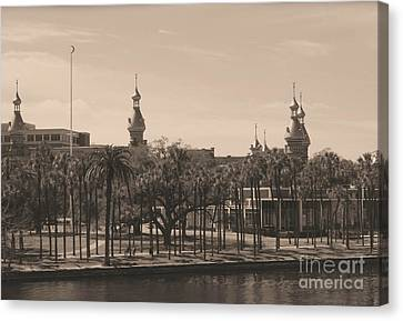 University Of Tampa With Old World Framing Canvas Print by Carol Groenen