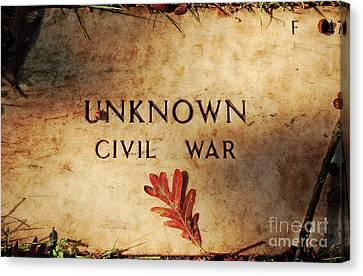 Unknown Civil War Canvas Print by Kathleen K Parker