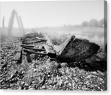 Unknown Shipwreck  Canvas Print by Dapixara Art