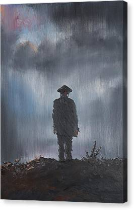 Unknown Soldier Canvas Print by Vincent Alexander Booth