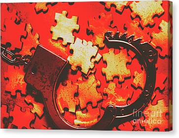 Unsolved Crime Canvas Print by Jorgo Photography - Wall Art Gallery