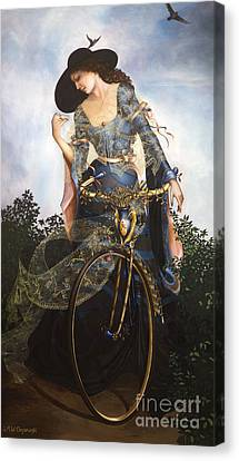 Unstuck In Time Canvas Print by Jane Whiting Chrzanoska
