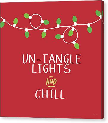 Untangle Lights And Chill- Art By Linda Woods Canvas Print by Linda Woods