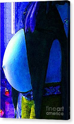 Until Waiting Is Filled Canvas Print by JoAnn SkyWatcher