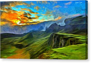 Untouched Mountains - Pa Canvas Print by Leonardo Digenio