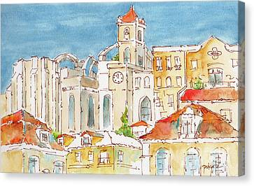 Up From Rossio Square Canvas Print by Pat Katz