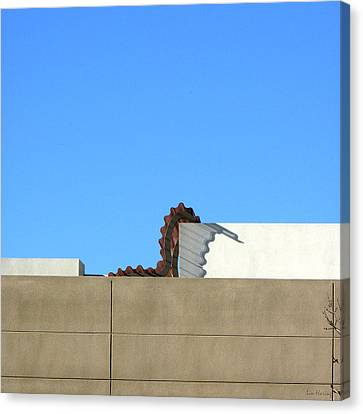 Up On The Roof Canvas Print by Lin Haring