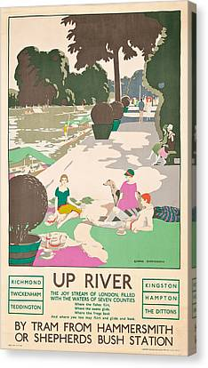 Up River Canvas Print by George Sheringham