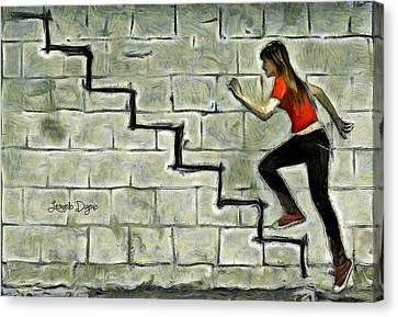 Up Stairs - Da Canvas Print by Leonardo Digenio