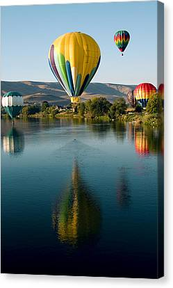 Up Up In The Air Canvas Print by David Patterson