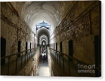 Upper Cell Blocks Canvas Print by Paul Ward
