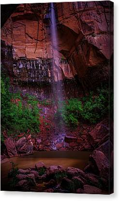 Upper Emerald Pools Fall Zion National Park Canvas Print by Scott McGuire