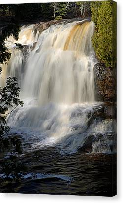 Upper Falls Gooseberry River 2 Canvas Print by Larry Ricker