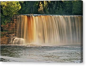 Upper Tahquamenon Falls 6279 Canvas Print by Michael Peychich