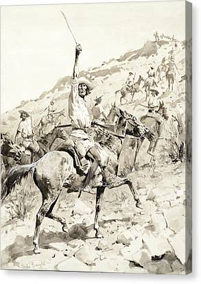 Uprising Of The Yaqui Indians Canvas Print by Frederic