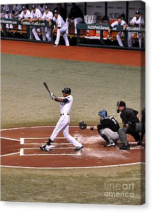 Upton At The Plate Canvas Print by John Black