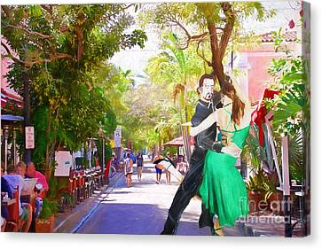 Urban Dancers  Canvas Print by Judy Kay