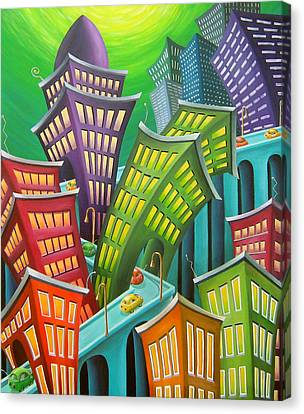 Urban Vertigo Canvas Print by Eva Folks