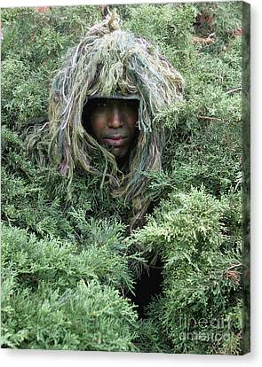 U.s. Army Soldier Demonstrates The Use Canvas Print by Stocktrek Images