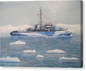 U.s. Coast Guard Cutter Eastwind Canvas Print by William H RaVell III