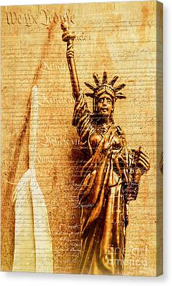 Us Constitution Canvas Print by Jorgo Photography - Wall Art Gallery