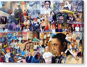 Us History The First Ten Years 21st Century Canvas Print by Leonardo Ruggieri