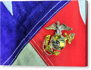 Us Marine Corps Canvas Print by JC Findley