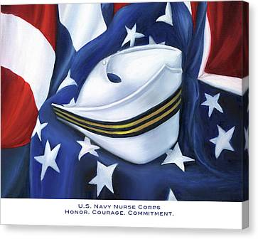 U.s. Navy Nurse Corps Canvas Print by Marlyn Boyd