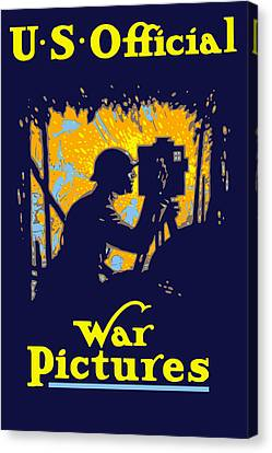 U.s. Official War Pictures Canvas Print by War Is Hell Store