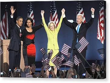 U.s. President Elect Senator Barack Canvas Print by Everett