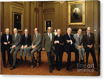 Us Supreme Court Justices Canvas Print by Yoichi Okamoto
