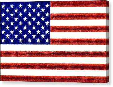 Usa Flag  - Free Style -  - Pa Canvas Print by Leonardo Digenio