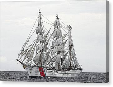 Uscg Barque Eagle Canvas Print by Max Mudie