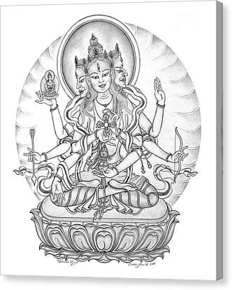 Ushnisha Vijaya Canvas Print by Carmen Mensink