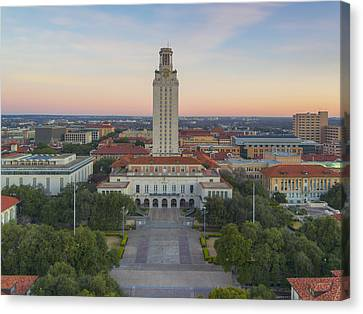 Ut Tower Aerial View On A January Morning 1 Canvas Print by Rob Greebon