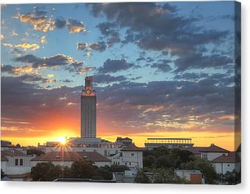Ut Tower At Sunrise 2 Canvas Print by Rob Greebon