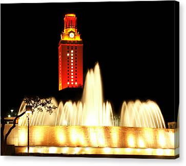 Ut Tower Championship Win Canvas Print by Marilyn Hunt