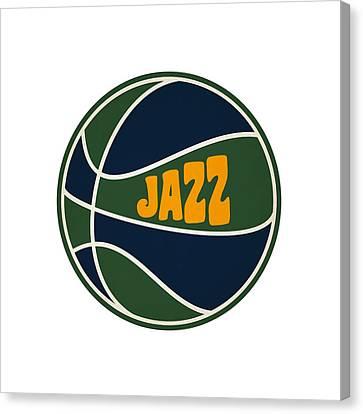 Utah Jazz Retro Shirt Canvas Print by Joe Hamilton