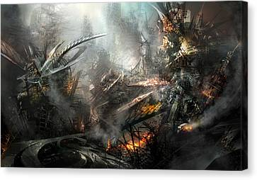 Utherworlds Ashes Canvas Print by Philip Straub