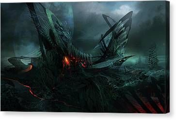 Utherworlds In Search Of Canvas Print by Philip Straub