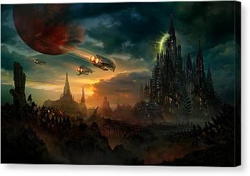 Utherworlds Sosheskaz Falls Canvas Print by Philip Straub