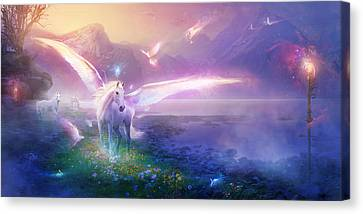 Utherworlds Winter Dawn Canvas Print by Philip Straub