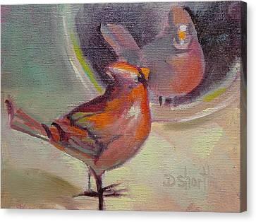 Vain Cardinal Canvas Print by Donna Shortt
