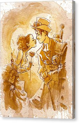 Valentine Canvas Print by Brian Kesinger