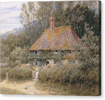 Valewood Farm Under Blackwood Surrey  Canvas Print by Helen Allingham