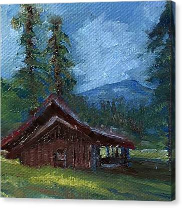 Valles Cabin Canvas Print by Jo Anne Neely Gomez