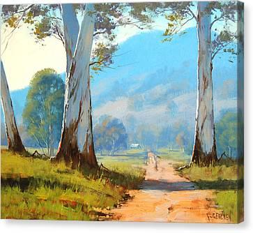 Valley Farm Canvas Print by Graham Gercken