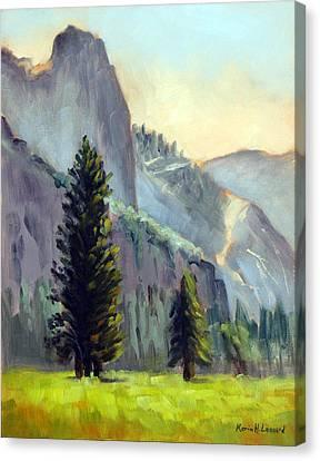 Valley Glow Yosemite Np Canvas Print by Karin  Leonard