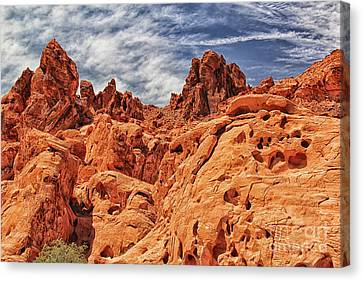 Valley Of Fire Canvas Print by Mariola Bitner