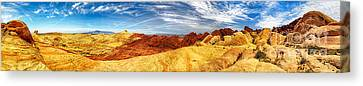 Valley Of Fire Panorama Canvas Print by Kasia Bitner